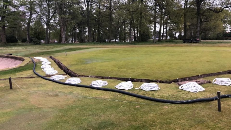 15th green drainage system